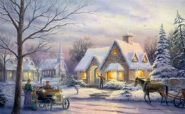 Kinkade Memories of Christmas Cross Stitch Pattern***L@@K*** - $4.95