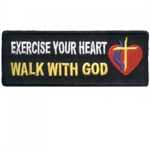 Embroidered Christian Patch Exercise Your Heart Patch - $3.95