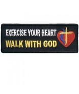 Embroidered Christian Patch Exercise Your Heart... - $3.95