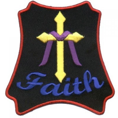 Embroidered Christian Faith Patch Patch
