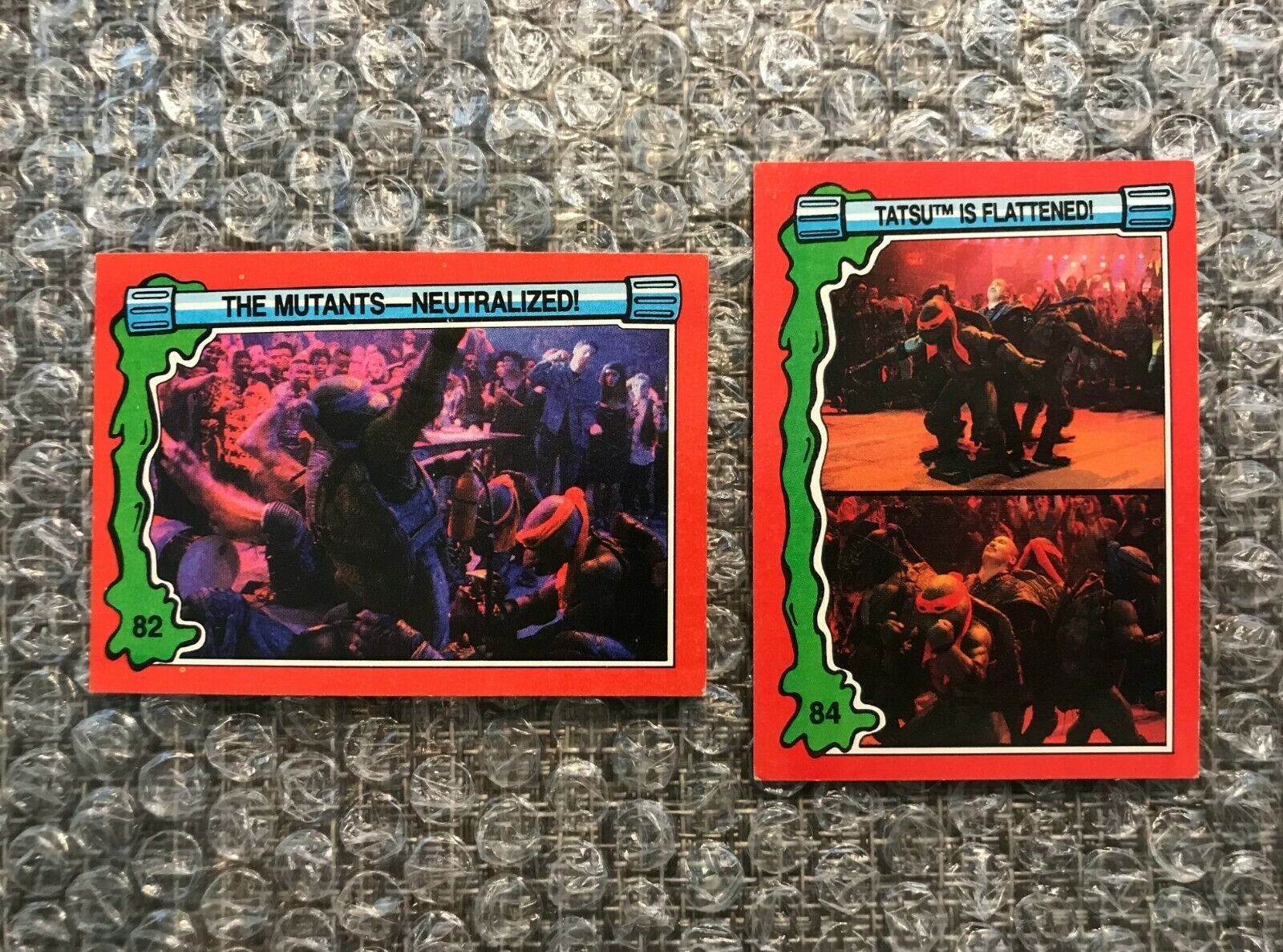 Primary image for 1991 Topps Teenage Mutant Ninja Turtles TMNT II Movie Cards Lot: #82 & #84