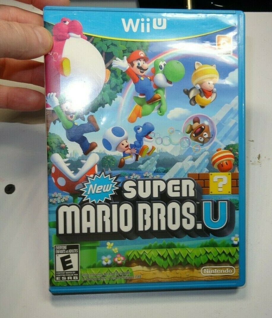 Primary image for New Super Mario Bros. U (Wii U, 2012) Game Disc W/ Case-Good-Clean-Read