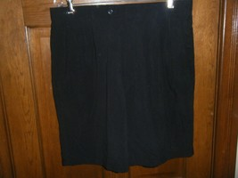 Greg Norman Collection Black Pleated Front Golf Shorts - Size 36 - $18.80
