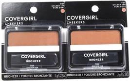 2 Covergirl Cheekers 104 Golden Tan 0.12 Oz Bronzers Soft Powdered Sun Kiss Glow - $17.99