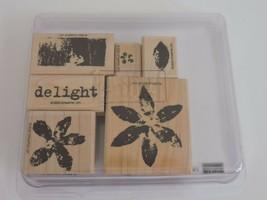 Stampin Up Paint Prints Stamps Delight Flower Leaf Crafts DIY Scrapbook 2005 - $5.76