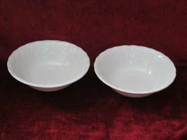 "Nikko Woodbury White set of 2 Fruit  bowls 6 1/4""  - $14.80"
