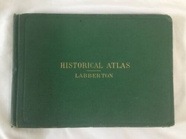Antique Hardcover 1874 Historical Atlas 100 World Color Maps Labberton image 1