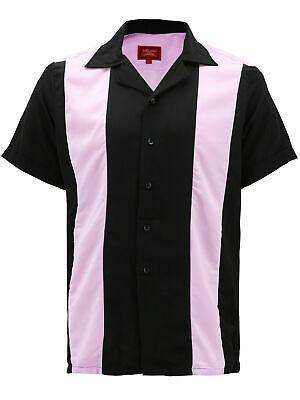 Men's Retro Classic Two Tone Guayabera Bowling Casual Dress Shirt w/ Defect - XL