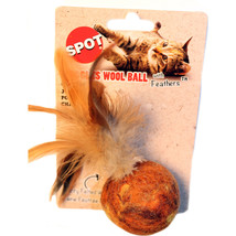 Ethical Assorted Wuggle Wool Ball/feathers 5 Inch - $20.40 CAD