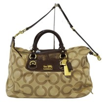 Coach Madison Sabrina Gold Logo Signature Satch... - $148.50