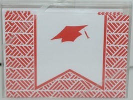 Rosanne Beck 211 0954R Red Folded Note Grad Cap Cards and Envelopes Package 10 image 1