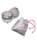 1 AVON Vintage Style *Bejeweled* Compact Mirror With  Pouch Beautiful  New! - $12.87