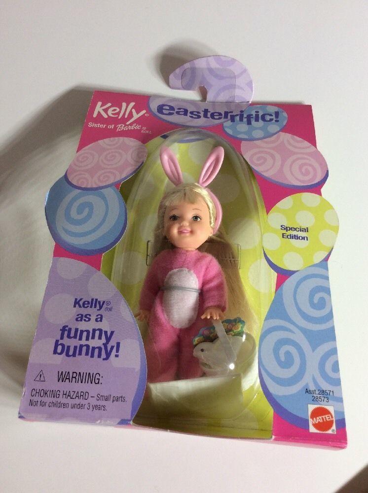 Easterrific Barbie Kelly Pink Funny Bunny Easter Basket Dress Up NRFB Costume
