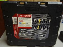 CRAFTSMAN - 930024 - 24pc SOCKET ACCESSORY SET - METRIC 1/4 3/8 DRIVE -B... - $39.99