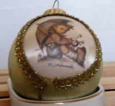 "MJ Hummel 2002 Glass Christmas Ornament ""Umbrella Boy"" - $4.97"