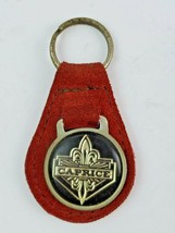 Vintage Caprice leather keychain keyring metal back Red/Orange - €14,90 EUR