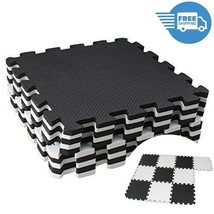 Rubber Puzzle Mat Workout Gym Fitness Floor Exercise Interlocking Floor ... - $22.47
