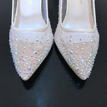 Woman High 10CM Shoes Crystal Heels Rhinestone A8xBqH
