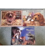 Lot of 3 Vintage Animal Calendars - Like New 1995-1996-1997 - $3.00