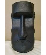"NEW Large 15"" Easter Island Moai Head Black Decor / Vase / Planter Tiki ... - $58.15"