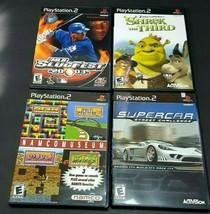 Lot X4  PS2 Playstation 2 SupeRcar Slug Fest 2003 Shrek the Third Games video l6 - $42.86
