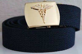 US Army Medical Corps Blue Belt & Buckle - $15.83