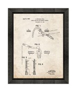 Dental Drill Patent Print Old Look with Beveled Wood Frame - $24.95 - $109.95