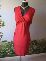 DVF Diane Von Furstenberg Dress Women Red Parker Jersey Dress Size Large New - $147.51