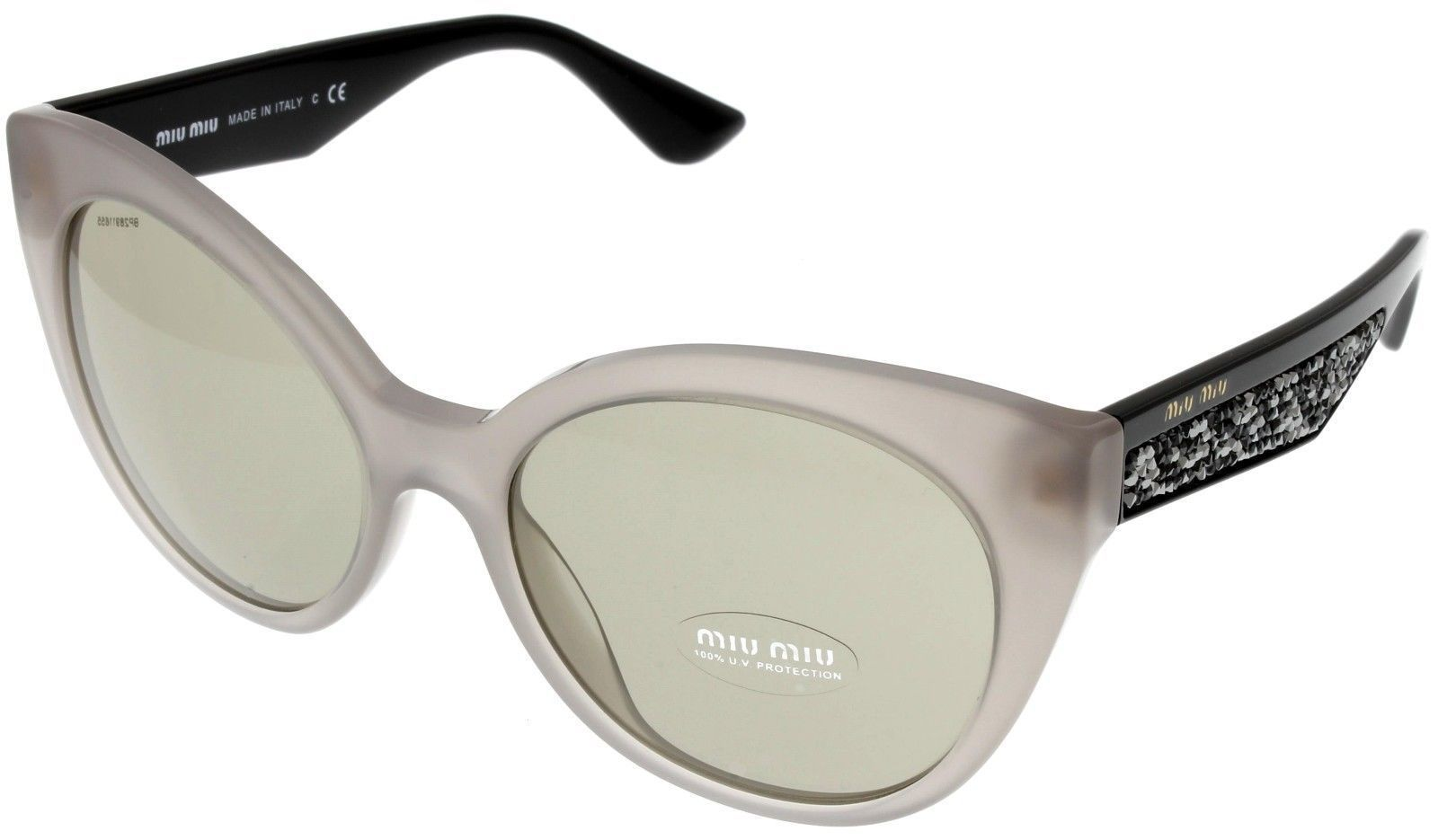 e04db8882d6f 57. 57. Previous. Miu Miu Sunglasses Women Brown Black Taupe Cat Eye MU07RS  UE25J2. Miu Miu Sunglasses ...