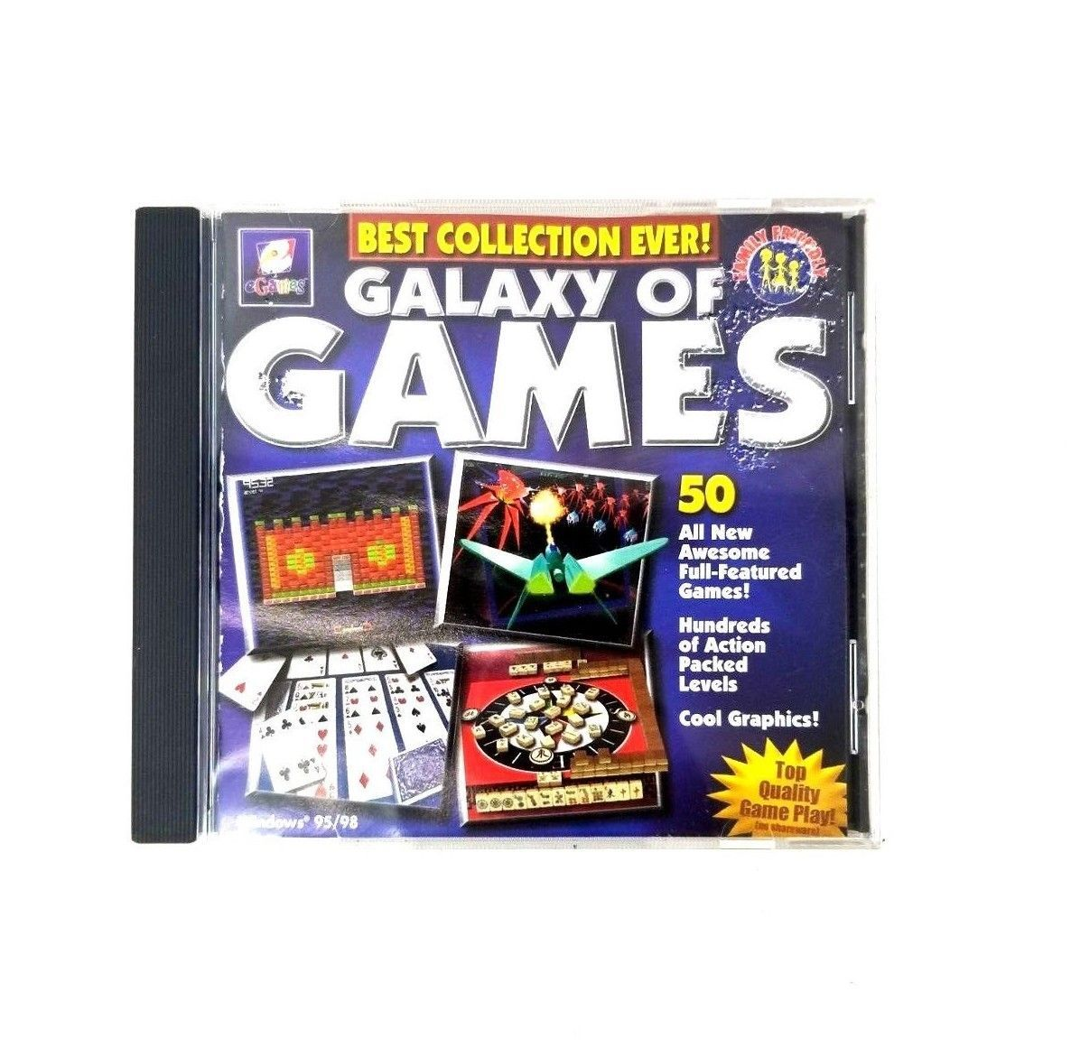 e Games Galaxy Of Games PC CD Rom 50 Games 1 Disk Various Category Games e Games