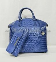 SET Brahmin Large Duxbury Satchel/Shoulder Bag + Checkbook Wallet Iris Melbourne - $399.00