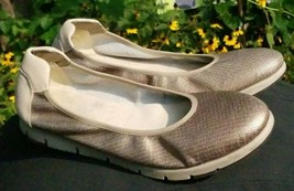 Signature by Aerosoles Gold Ballet Flat Fast Track shoes Womens Size 11 - $36.09