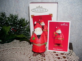 HALLMARK ORNAMENT KRIS KRINGLE 2003 BY VISKER MIB - $15.98