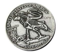 FK(01)Hobo 1916 Walking Liberty Half Dollar Skull Design Coin Copy - $7.99