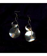 Mod Twist And Dangle Retro Golden Earrings - $5.00
