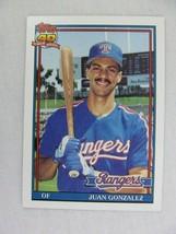 Juan Gonzalez Texas Rangers 1991 Topps Baseball Card 224 - $0.98