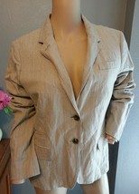 NWOT J Crew Schoolboy Taupe Oatmeal Rayon Metallic Blend Blazer Jacket 12 - $68.39