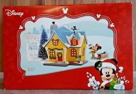 Disney Dept 56 Christmas Mickey House Holiday Gift Set 4 Pieces NEW Reti... - $144.45