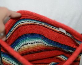Gemini Mermaids Product Number RBB5001 Medium Serape Boho Bag Red Blue Striped image 3