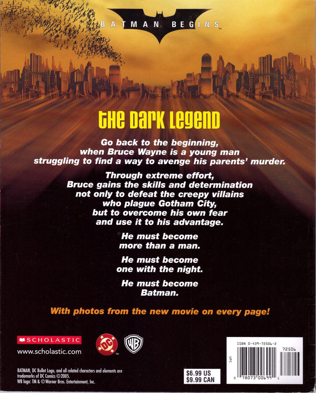 BATMAN BEGINS The Moive Storybook
