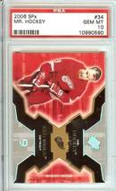 gordie howe detroit red wings 2006 spx upper deck hockey psa 10 nhl mr h... - $79.99