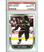 eric lindros 2007 victory upper deck hockey psa 10 nhl dallas stars - $39.99