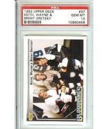 wayne keith brent gretzky 1992 upper deck  hockey psa 10 edmonton kings - $39.99