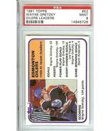 wayne  gretzky 1981 topps hockey psa 10 edmonton oilers - $24.99