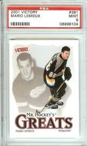 mario lemieux 2001 victory hockey psa 9 penguins nhl - $14.99