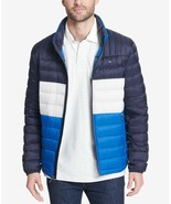 Tommy Hilfiger Men's Down Quilted Packable Logo Jacket Royal Blue Combo - $97.50