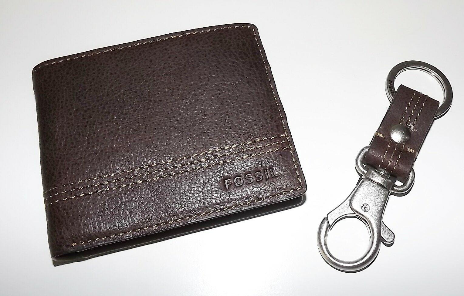 Fossil HERREN Leder Kyle Rfid Geschützt Bi-Faltbar Portemonnaie mit Valet image 2