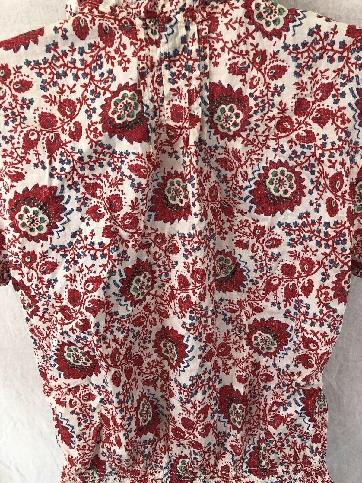 Lauren Ralph Lauren Womens Top S Floral Red small