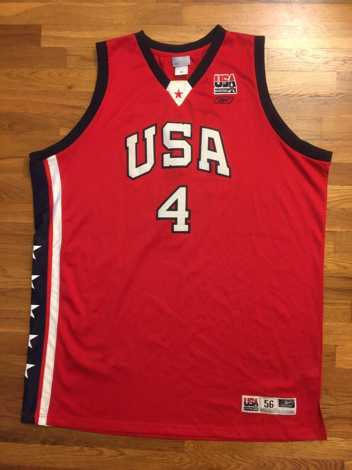 Primary image for Authentic Reebok 2003 Team USA Olympic Allen Iverson Alternate Red Jersey 56