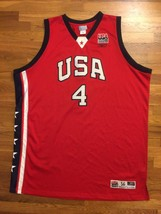 Authentic Reebok 2003 Team USA Olympic Allen Iverson Alternate Red Jerse... - $309.99